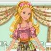 Game Barbies Patchwork Peasant Dress