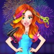 Play Jessie New Year #Glam Hairstyles Game Online