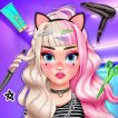 Play Eliza E Girl Trendy Hairstyles Game Online