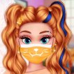 Girl game Pandemic Mask Decoration