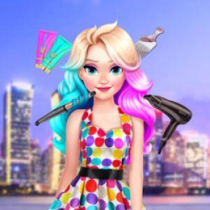 Elizas Neon Hairstyle Girl Games Kiz10girls Com