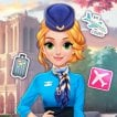 Game Blonde Princess Cabin Crew Makeover